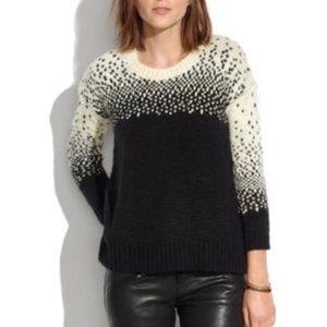 Madewell Small drift stitch heart sweater